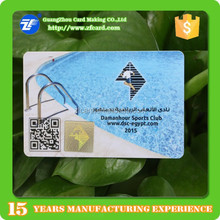 Credit card size plastic card printing with hologram master label