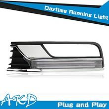 AKD Car Styling Cob Design VW Passat B7 DRL 2012 Passat LED DRL Europe Daytime Running Light Good Quality LED Fog lamp