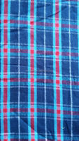 100% cotton flannel check fabric stock yard dye flannel fabric stock