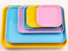 New design colorful melamine tray