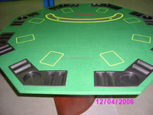 octagon felt poker table top with speed cloth and black jack print on