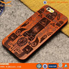 2015 stylish Flip cover Wood tpu Case for iphone 5/5s