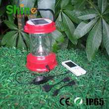 led solar lantern with cell phone charger poly silicon with IP65 CE approved