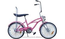 "20"" lowrider bike suspension fork bike coaster brake 2015 beach cruiser bike"