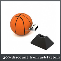 popular 8GB basketball shape pvc usb flash
