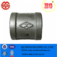 galvanized coupling class 150 malleable iron astm a197