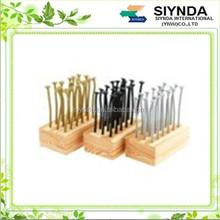 Creative Nail Shaped Plastic Embellished Fruit Forks Toothpicks-18 Pack(Color Assorted)
