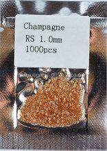 Champagne Stone Round Brilliant Cut CZ Cheap Fashion Jewelry
