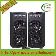 "Dual 12"" Professional Bluetooth Active big bass subwoofer Speakers box Gem-60045"