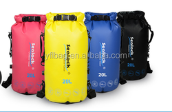 waterproof PVC dry bag with double strap for float chamber