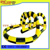 KULE new design giant interactive inflatable racing track game fun toys for adults
