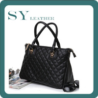 Designer OPPO Diamond Texture Black High Quality Imported PU Leather Large Bags For Women