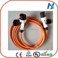European standards AC electric car 250V iec 62196-2 ev car type 2 female to type 2 male plug