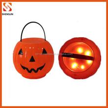 hot selling pumpkin lighted halloween bucket