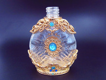 vintage glass perfume bottle for cosmetic packaging