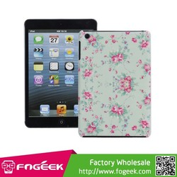 High Quality Beautiful Peony Design Plastic Protector Skin Case for iPad Mini