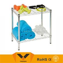 2 Tier utility shelf,commercial grade shelving, wire mesh shelve
