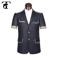 Blue suit custom design safari suit for men