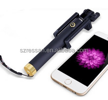 New model handheld mini foldable wire monopod selfie stick for ISO Android