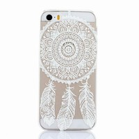 for iPhone 5 Case Cover,Vintage Floral Flowers Pattern transparent PC hard case for iPhone 5 5s