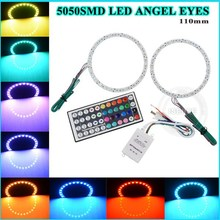 guangzhou factory 110mm cut circle & full circle PCB White 5050 smd Rgb car led angel eye halo rings auto lights