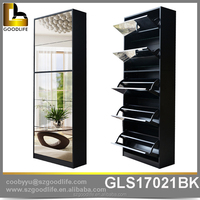 On line Shopping home furniture Mirrored Wooden shoe cabinet