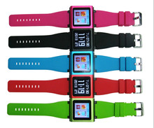 Chrismas Promotion Newly 4TH Generation 1.5 Inch MP4 Wrist Band MP3 Player