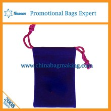 newest 2015 fashion beautiful red velvet christmas gift bag