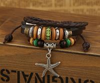 sea star low price popper european genuin leather bracelets