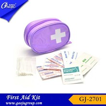 Free sample available Eco-Friendly mini outdoor first aid kit/bag/box