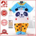 2015 nova chegada do bebê recém-nascido menino de vestuário, menino de roupa de panda