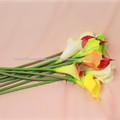 flor de plástico de flores artificiais