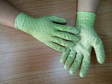Working gardening safety dipping/coating gloves gloves / EN388 EN420 CE / protection