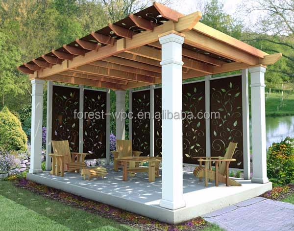 kunststoff dach pavillon festen dach pavillon im freien pavillon mit wpc b gen pavillons. Black Bedroom Furniture Sets. Home Design Ideas