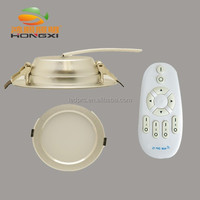 12W CCT 2.4G RF remote adjustable recessed LED downlight