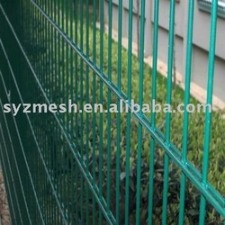 electric wire mesh fence in construction