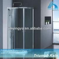 corner fiberglass round stand shower