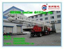 1000-1500m trailer type deep water well drilling rig hot sale in Egypt