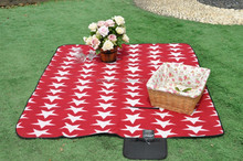Microfiber star printed polar fleece picnic mat for sale
