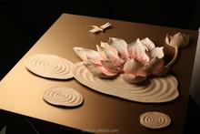 elegant delicate Original modern abstract flower art