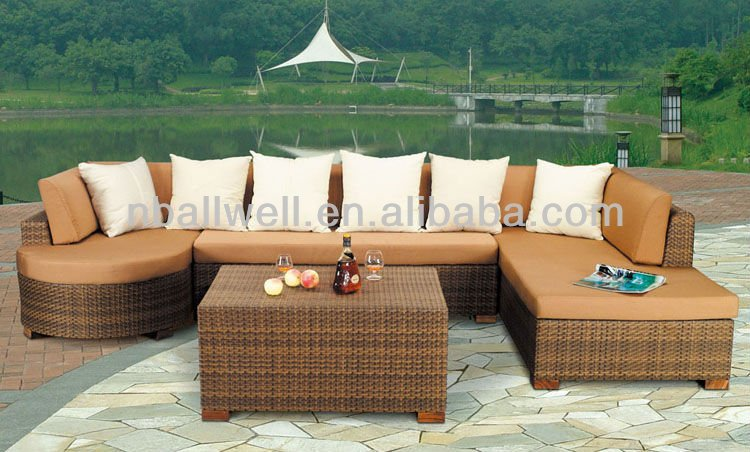 NEW DESIGN CHEAP RATTAN GARDEN SOFAS