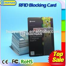 printing chip uid security rfid credict card sleeve RFID Blocking card for protect your info