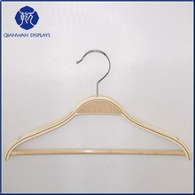 Wooden PU Coat leather decorative craft hanger