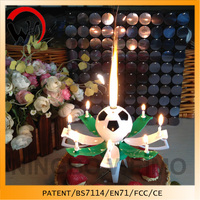 Patent CE/EN71 Certificates Soccer Music birthday candle edible cake decoration