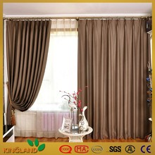 N Polyester fabric window curtain plain blackout curtain ready made curtain sun out cortina
