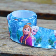 Custom frozen printed grosgrain ribbon