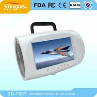 7 inch portable DVD/EVD made in China with smart function