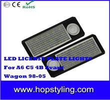 2015 best selling Car LED license plate lamp for A6 C5/ 4B Avant/Wagon LED car number plate lamp car light