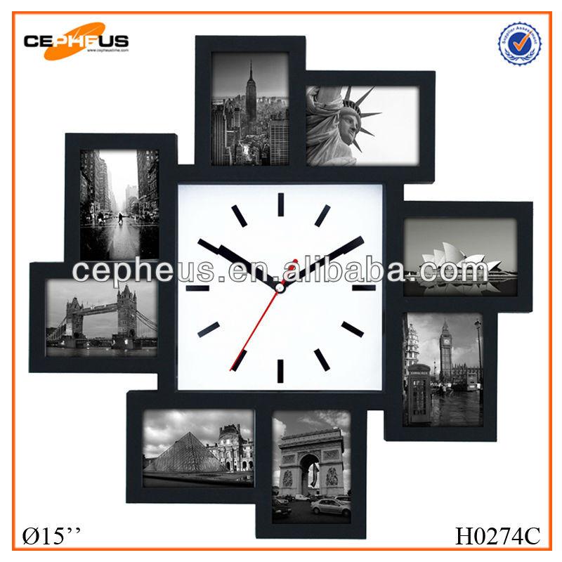 8 quot en plastique bricolage horloge murale avec cadre photo horloge murale id du produit