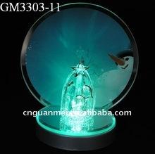 2012 christmas promotion gift decoration with LED light and jesus nativity scene